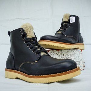 COACH DERBY LEATHER BOOTS WITH SHEARLING FOR MEN